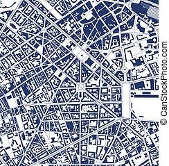 lille, città, francia, mappa