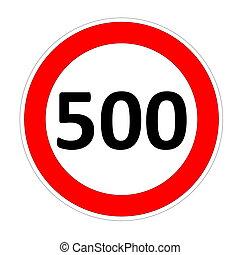 limite velocità, 500, segno