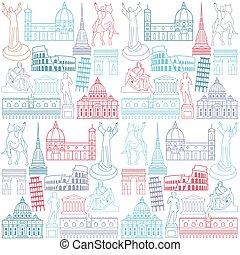 limiti, background-, scultura, italia, attrazioni, famoso, turista, popolare