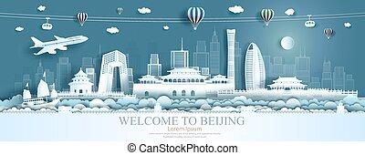 limiti, beijing, viaggiare, asia, balloons., barca vela, aeroplano