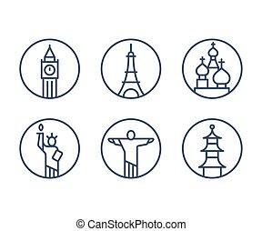 limiti, set, icone