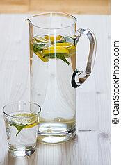 limone, acqua, menta