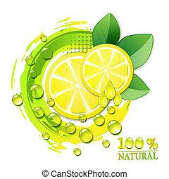 limone, giallo, fette
