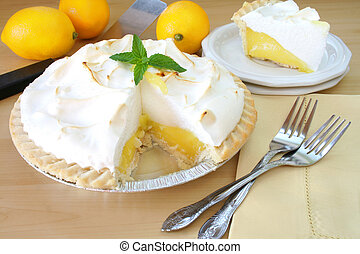 limone, torta, meringa