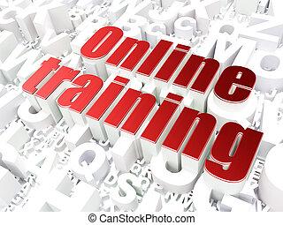 linea, concept:, fondo, addestramento, alfabeto, educazione