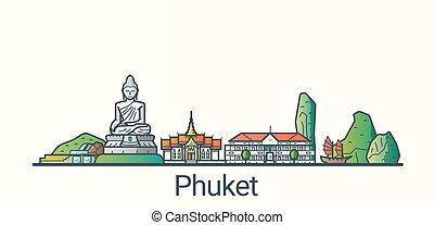 linea fissa, bandiera, phuket