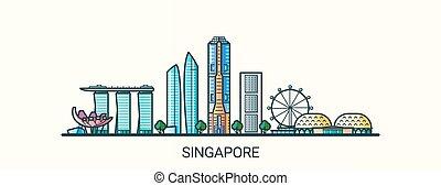 linea fissa, bandiera, singapore