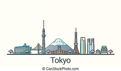 linea fissa, bandiera, tokyo