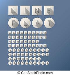 linea fissa, font, magro, numeri