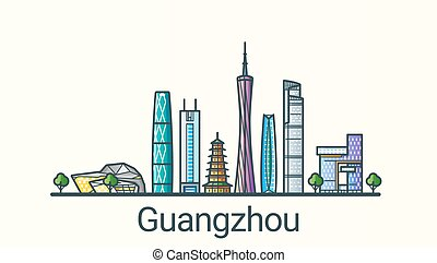 linea fissa, guangzhou, bandiera