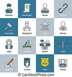 linea fissa, legge, icona