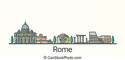 linea fissa, roma, bandiera