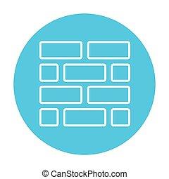 linea, icon., brickwall