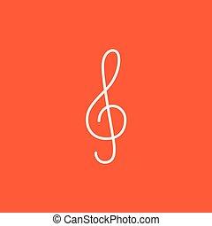 linea, icon., g-clef