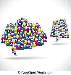 linea, marketing, concetto, strategia