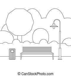 linea, mobilia esterna