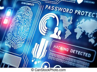 linea, sicurezza, tecnologia
