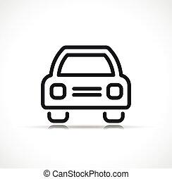 linea, vettore, automobile, simbolo, icona