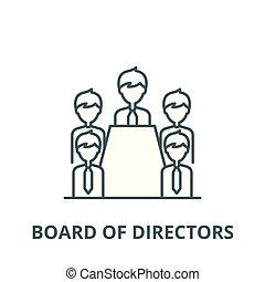 lineare, concetto, simbolo, segno, direttori, vettore, asse, icona, linea, contorno