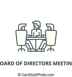 lineare, concetto, simbolo, segno, direttori, vettore, asse, icona, linea, riunione, contorno