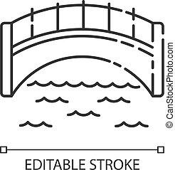 lineare, icona, pixel, ponte, perfetto