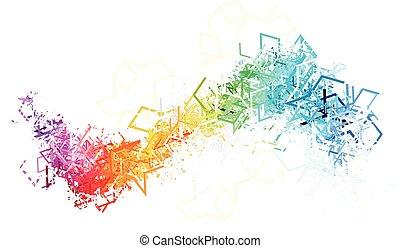 linee bianche, colorito, fondo