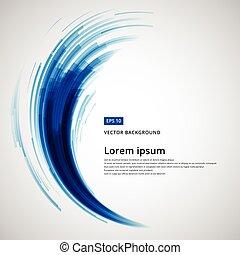 linee blu, astratto, curva, illustrazione, elemento, vettore, turbine, cerchio, tecnologia