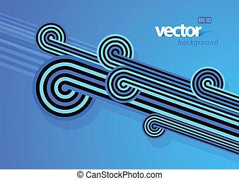 linee blu, fondo., astratto