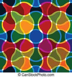 linee, ondulato, pattern., seamless, colorito