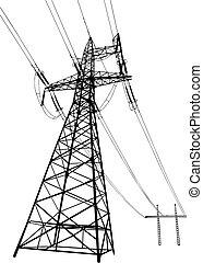 linee, piloni, potere