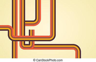 linee, retro, fondo
