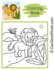 lion., coloritura, book.