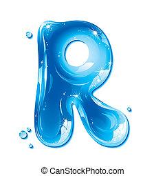 liquido, -, acqua, r, lettera, capitale
