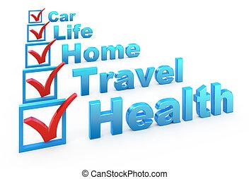 lista, assicurazione