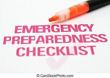 lista, emergenza