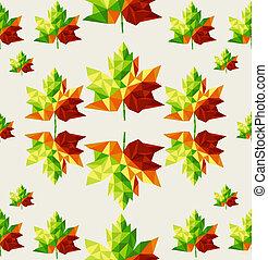 livelli, eps10, file, modello, foglie, organizzato, seamless, albero, autunno, fondo., editing., vettore, facile, geometrico, astratto