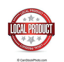 locale, prodotto, disegno, illustrazione, sigillo