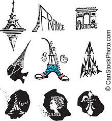 logos, viaggiare, francia