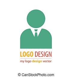 logotipo, affari, avatar