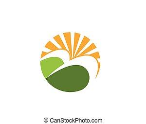 logotipo, agricoltura, paesaggio, sagoma