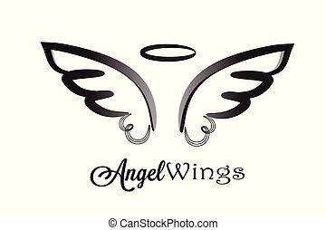 logotipo, ali, angelo