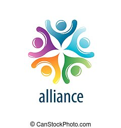 logotipo, alleanza, umano