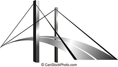 logotipo, americano, bridge.