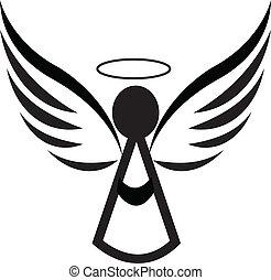 logotipo, angelo, icona