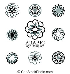 logotipo, arabo, sagoma