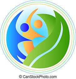 logotipo, armonia, persone