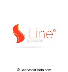 logotipo, astratto, linea, onda