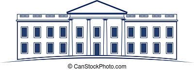 logotipo, bianco, vettore, casa