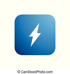 logotipo, bottone, moderno, illuminazione, icona