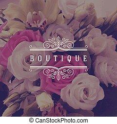 logotipo, boutique, sagoma